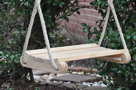 tree swing kids deluxe contoured kids tree swing wood swings ebay