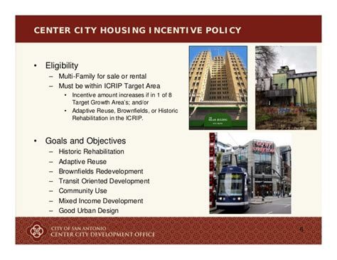 center city housing center city housing incentive policy