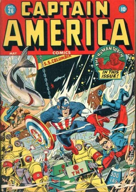 Captain America Comic Book captain america comics 1941 golden age comic books
