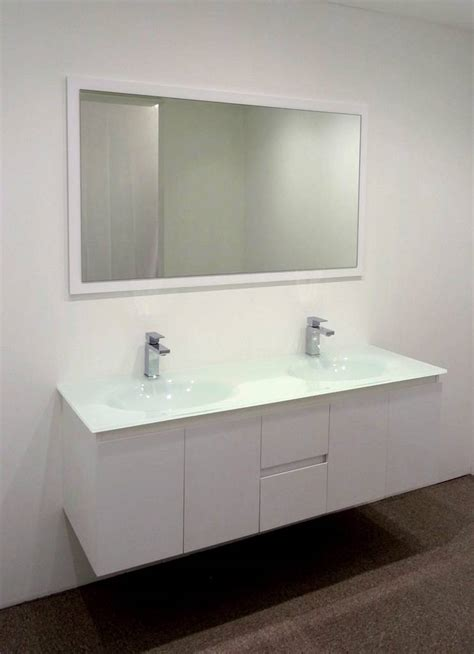 Glass Bathroom Vanity Units by Bathroom Vanity Unit Glass Top Cabinet Set 1500mm