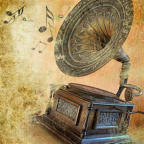 imagenes retro obras music vintage gramophone music notes 1920x1920 wallpaper