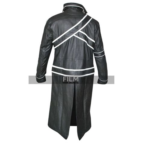 Sword Leather Jacket by Sword Kirito Black Jacket Costume