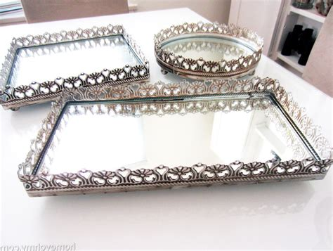 mirror tray for dresser uk mirrored vanity tray ideas doherty house