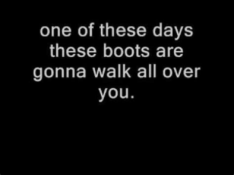 Now These Boots Are Made For Walking by These Boots Are Made For Walking With Lyrics Nancy Sinatra