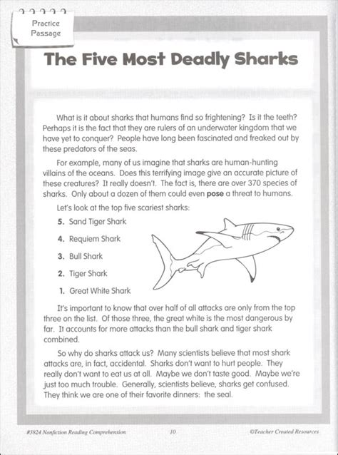 Nonfiction Reading Comprehension Worksheets by Nonfiction Reading Comprehension For The Common Grade