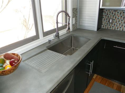 integrated sink kitchen countertop concrete kitchen countertops kitchen modern with concrete