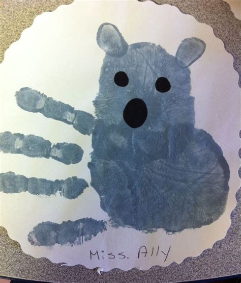 koala craft for handprint koala craft for preschoolers abc s and 1 2 3 s
