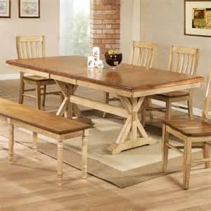 farmhouse dining table tables trestle