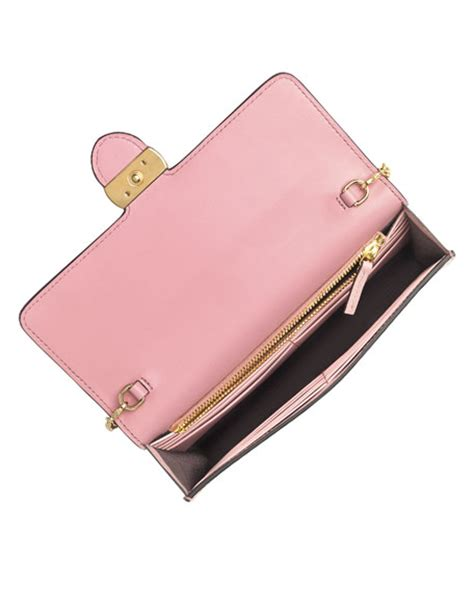 Gucci Woc Pink gucci gucci icon guccissima wallet on chain soft pink neiman
