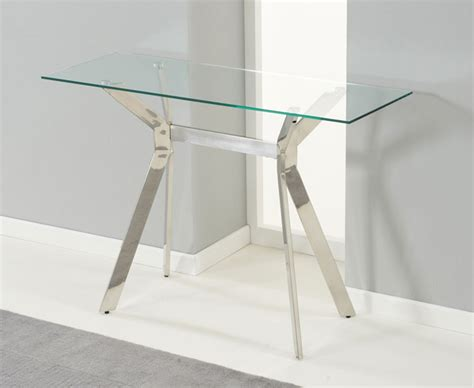 Mode Steel & Glass Console Table