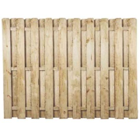 home depot fence sections 6 ft h x 8 ft w pressure treated pine shadowbox fence