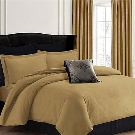 queen flannel duvet cover buy tribeca living 200 gsm solid flannel duvet cover set in brown from bed bath beyond