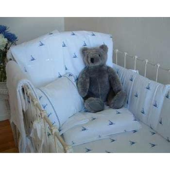 William Crib Bedding by Sweet William By The Sea Sailboats Crib Bedding Featured At Babybox