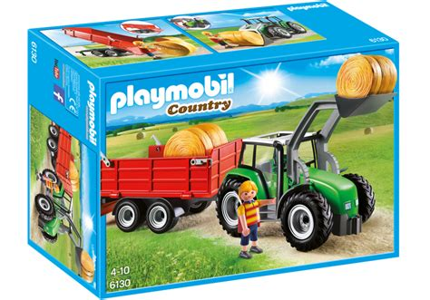 Playmobil Tractor large tractor with trailer 6130 playmobil 174 united kingdom