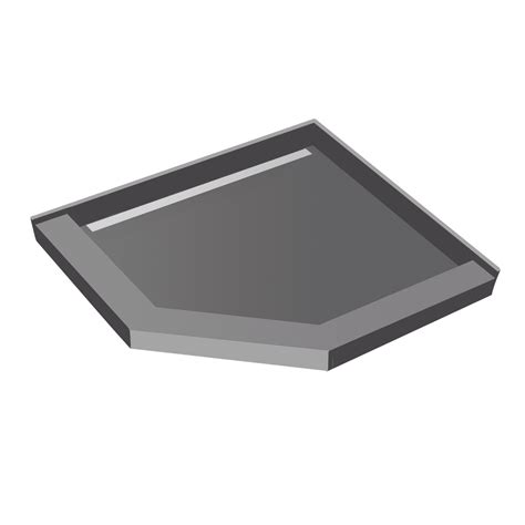 Tileable Shower Pan by 36x36 Neo Angle Redi Trench8482 Shower Pan With Tileable Drain Top