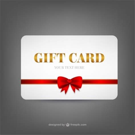 Gift Card Template Size by Template With Present Box Vector Free