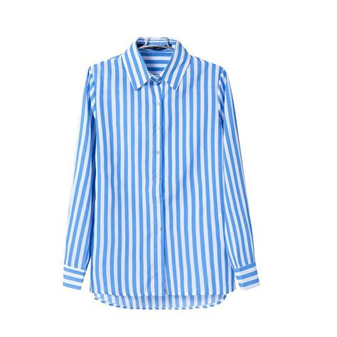 White And Blue Shirt blue striped shirt womens is shirt