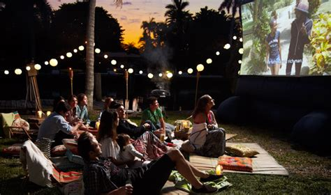 how to create a backyard movie theater