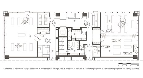 yoga studio floor plan gallery of yoga studio kostas chatzigiannis architecture