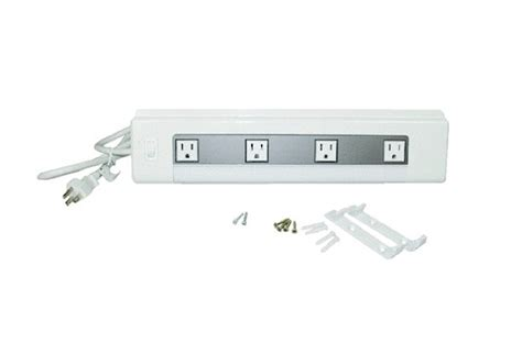 Cabinet Power Strips by 4 Outlet Kitchen Cabinet Power Remodelista