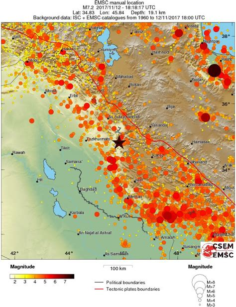 earthquake data extremely dangerous m7 3 earthquake hits iran iraq border