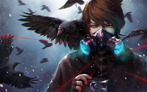 anime war war animal bird red eyes anime boy wallpaper 1920x1200