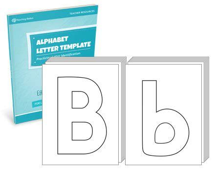 alphabet letter template set myteachingstation