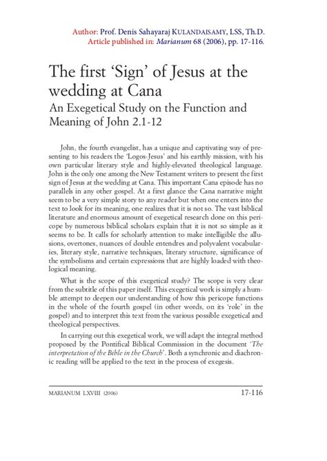 Wedding At Cana Exegesis exegesis 2 1 12 wedding at cana