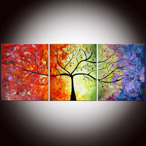 colorful tree colorfull tree painting full free hd wallpapers
