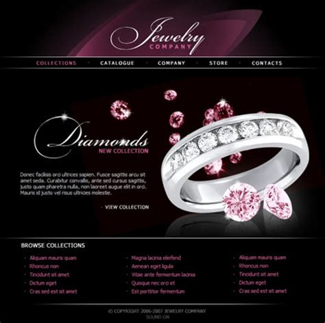 templates for jewellery website free jewelry design templates style guru fashion glitz