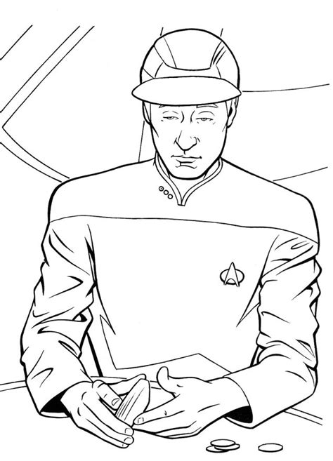 coloring page star trek the best scenes from insane old star trek coloring books
