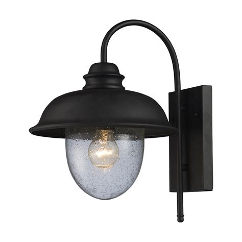 Elk Lighting Streetside Cafe 1 Light Outdoor Wall Lantern Outdoor Black Light