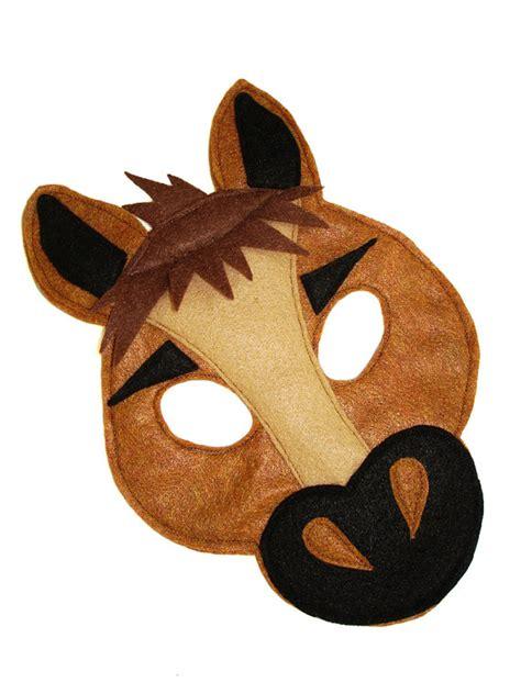 children s horse farm animal felt mask