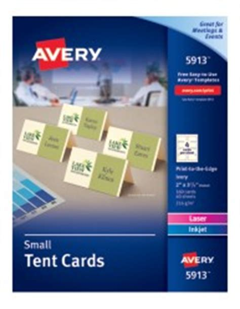avery template for 5302 small tent cards avery small ivory tent cards