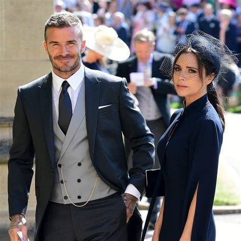 Victoria and David Beckham Royal Wedding Outfits