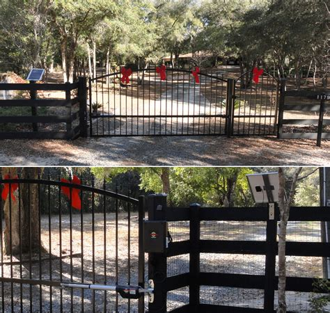 estate swing the estate swing 14 foot long dual driveway gate made in usa