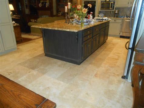 Kitchen Travertine Floor Travertine Kitchen Floor