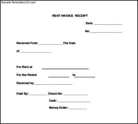 Invoice Receipt Letter Rent Invoice Receipt Sle Templates