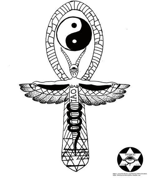 egyptian key of life tattoo designs θhpion esoteric this drawing is a revision of