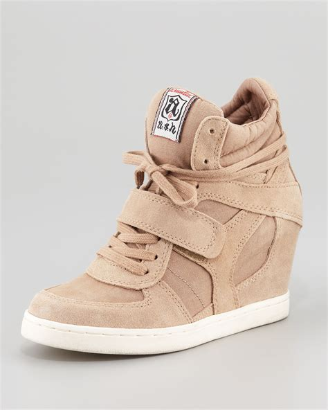 wedge sneakers lyst ash cool hitop wedge sneaker in
