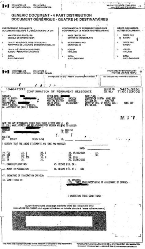 Confirmation Letter Permanent Residence South Africa Status In Canada