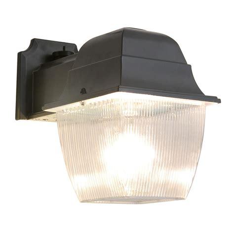 dusk to light lowes shop utilitech 1 70 watt black metal halide dusk to