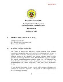 rfp template construction request for rfp building construction