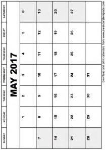 free may calendar template may 2017 calendar template