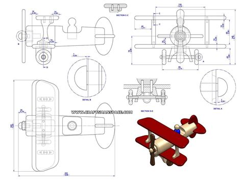 fat biplane toy plan