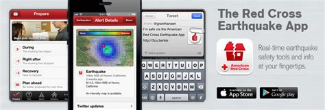 earthquake app earthquake alert app for iphone android american red cross