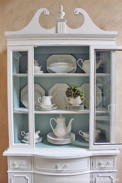 Changing Kitchen Cabinet Doors Ideas duck egg blue and white china cabinet confessions of a