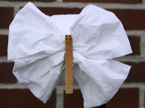 Toilet Paper Origami Butterfly - diy toilet tissue origami crafts