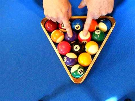 How To Rack Pool Balls by How To Rack 8 Billiards