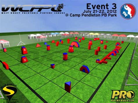 field layout initialized event wcppl event 3 paintball layout pro paintball gear news